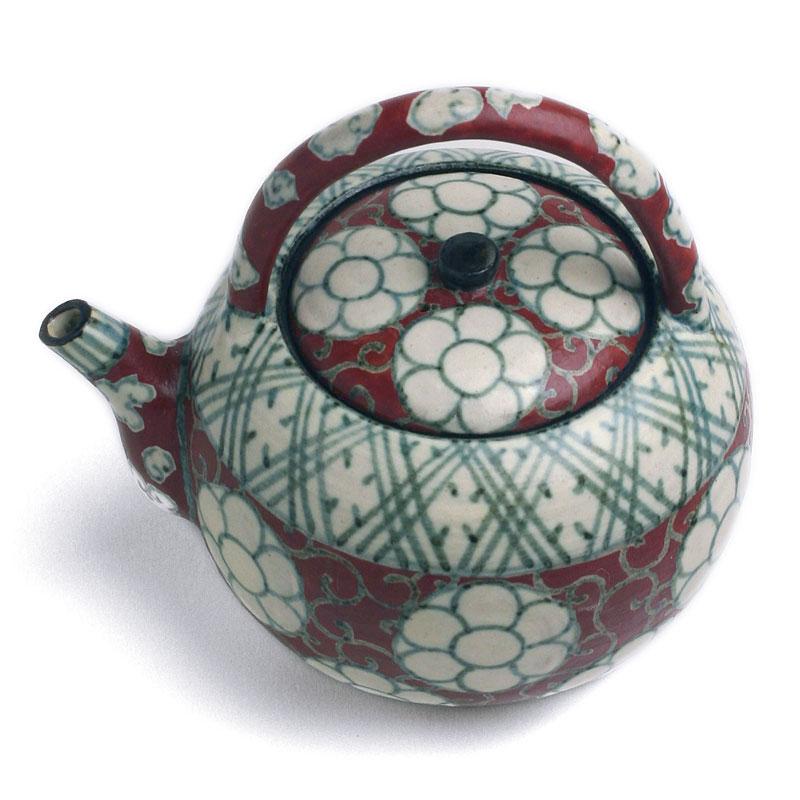 京焼:色絵雲菊紋銚子・伏原博之《酒器・銚子・屠蘇器・250ml》