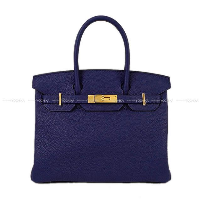 HERMES エルメス ハンドバッグ バーキン30 ブルーアンクル(ブルーインク) トリヨン ゴールド金具 新品 (HERMES handbag Birkin30 Blue encre Taurillon GHW[Brand new][Authentic])【あす楽対応】#yochika