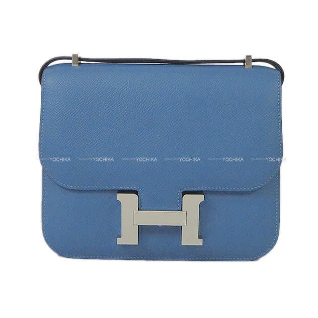【ご褒美に★】HERMES エルメス ショルダーバッグ コンスタンス 3 ミニ 18 アズール エプソン シルバー金具 新品 (HERMES Shoulder Bag Constance 3 Mini 18 Bleu azur Epsom SHW[Brand new][Authentic])【あす楽対応】#yochika
