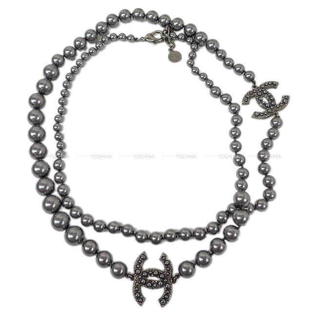 【ご褒美に★】100周年記念 CHANEL シャネル ココマーク ロング ネックレス A64753 展示新品 (100 Year Anniversary CHANEL Cocomark Pearl long Necklace[Exhibition][Authentic])【あす楽対応】#yochika