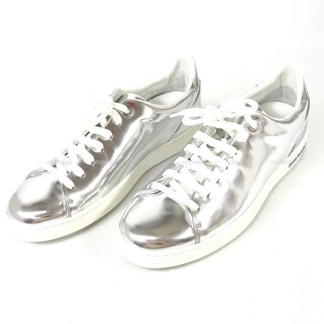 【ご褒美に★】LOUIS VUITTON ルイ・ヴィトン メタリック フロント ローカット スニーカー シルバー #38.5 新品未使用 (LOUIS VUITTON Metalic Front Low-Cut Sneaker Silver #38.5[Never used][Authentic])【あす楽対応】#yochika