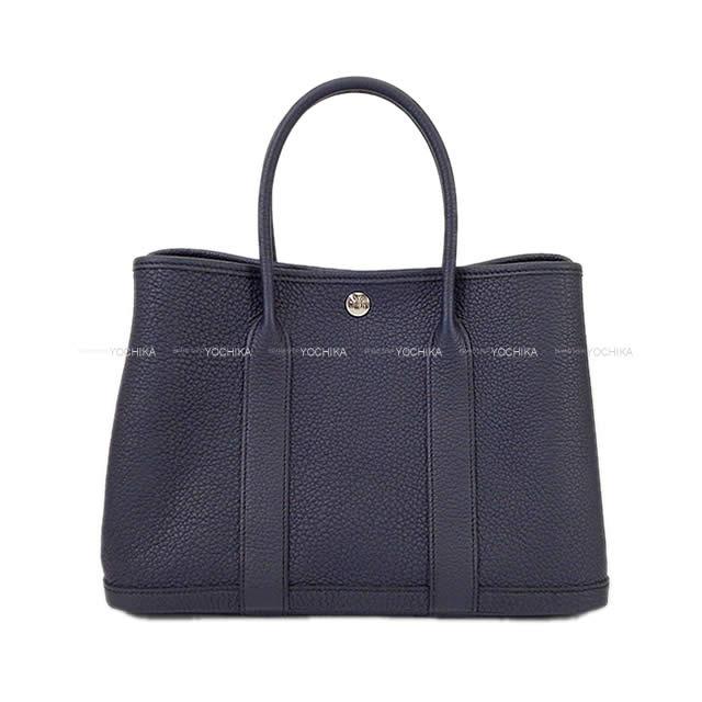 【ご褒美に★】HERMES エルメス トートバッグ ガーデンパーティ 30 TPM ブルーインディゴ ネゴンダ シルバー金具 新品 (HERMES Tote bag Garden Party 30 TPM Blue indigo Negonda SHW[Brand new][Authentic])【あす楽対応】#yochika