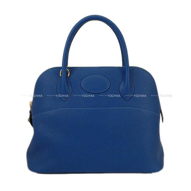 【ご褒美に★】HERMES エルメス ハンドバッグ ボリード31 ディープブルー トリヨン ゴールド金具 新品 (HERMES Handbag Bolide 31 Deep blue Taurillon Clemence GHW [Brand new][Authentic])【あす楽対応】#yochika