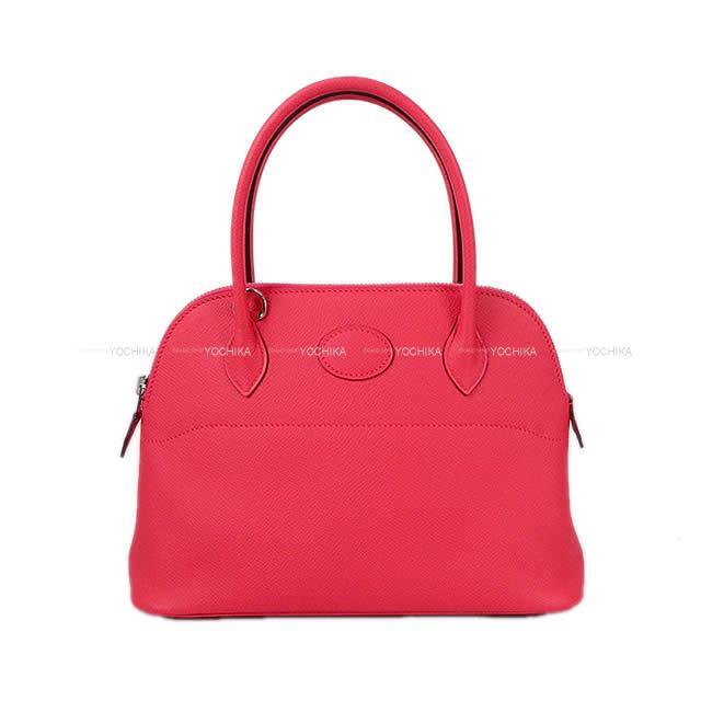 【ご褒美に★】HERMES エルメス ショルダーバッグ ボリード27 ローズエクストレーム(ローズエクストリーム) エプソン シルバー金具 新品未使用 (HERMES Shoulder bag Bolide 27 Rose extreme Epsom SHW[Never Used][Authentic])【あす楽対応】#yochika
