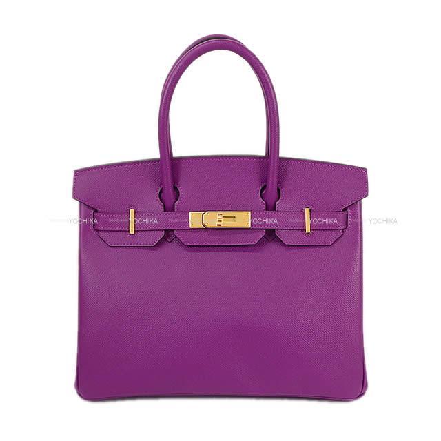 【ご褒美に★】HERMES エルメス ハンドバッグ バーキン30 アネモネ エプソン ゴールド金具 新品 (HERMES Handbag Birkin30 Anemone Epsom GHW[Brand new][Authentic])【あす楽対応】#yochika