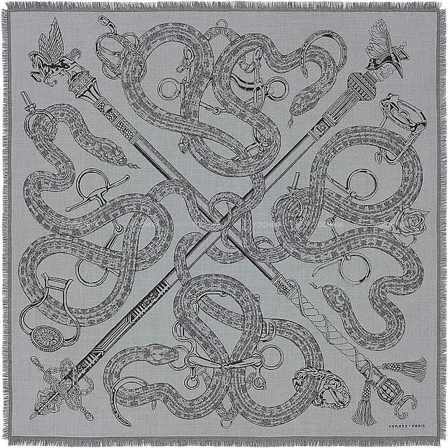 【キャッシュレスポイント還元★】HERMES エルメス スカーフ ショール カレH100
