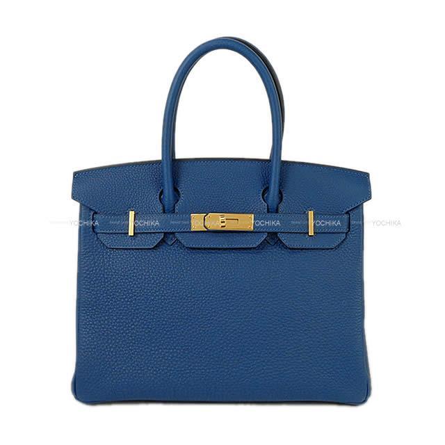 【キャッシュレスポイント還元★】HERMES エルメス ハンドバッグ バーキン30 ディープブルー トゴ ゴールド金具 新品 (HERMES Handbag Birkin30 Deep blue Togo GHW[Brand new][Authentic])【あす楽対応】#yochika