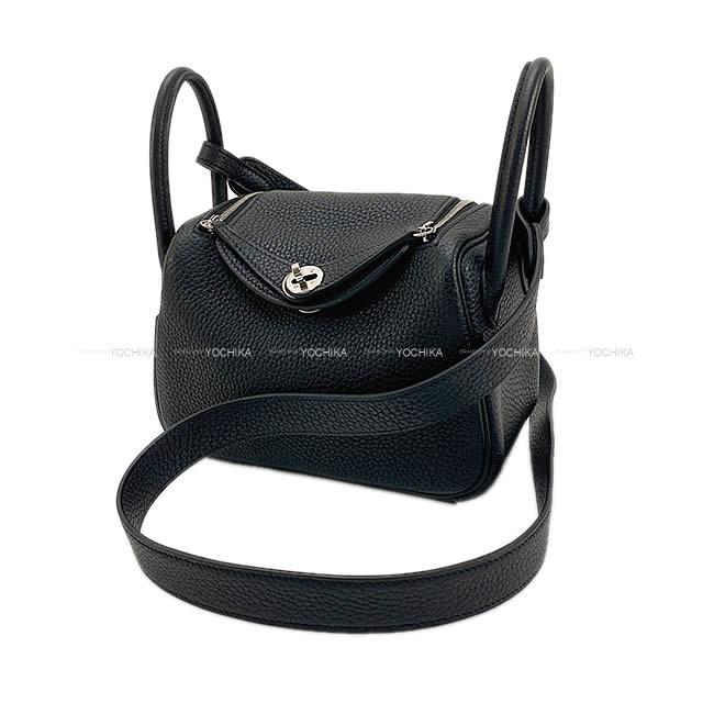 【ご褒美に★】HERMES エルメス 2Way ショルダーバッグ リンディ ミニ 黒 トリヨン シルバー金具 新品未使用 (HERMES Shoulder Bag Lindy Mini Black Taurillon SHW[Never used][Authentic])【あす楽対応】#yochika
