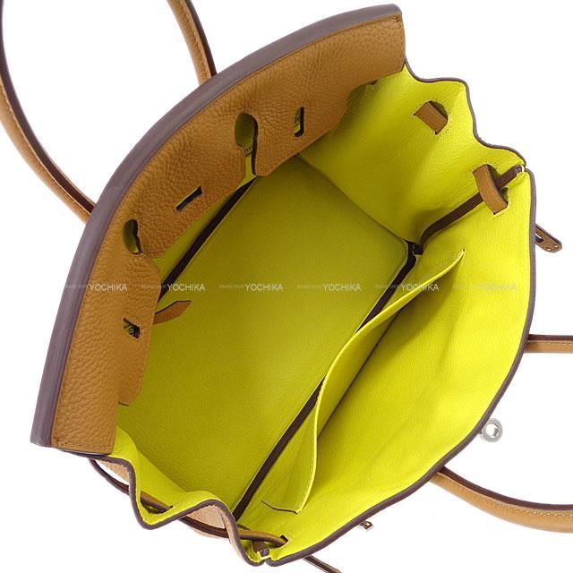 正規通販 【ご褒美に★】HERMES エルメス ハンドバッグ バーキン25 ヴェルソ キャラメル/ライム トゴ シルバー金具 新品 (HERMES Handbags Birkin 25 Verso Caramel/Lime Togo SHW[Brand New][Authentic])【】#yochika, BOULE BEAN 1dea46cb