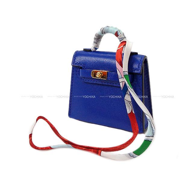 満点の 【ご褒美に★】HERMES エルメス ミニミニ バッグチャーム ケリートゥイリー(ツイリー) ブルーエレクトリック タデラクト ゴールド金具 新品 (HERMES MiniMini bag charm Kelly Twilly Blue Electric Veau Tadelakt GHW[Brand new][Authentic])【】#yochika, ミヤマチョウ bb66cd38