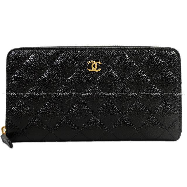 519f971f92b1 CHANEL Chanel matelasse round zip long wallet black   Bordeaux caviar skin  gold bracket A50097 brand new (CHANEL Wallet Roundzip Black Bordeaux)   yochika