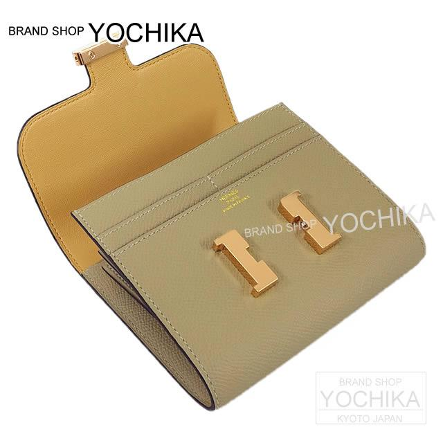 HERMES Hermes wallet Constance compact trench X natural sable Epson new article (HERMES Constance Compact Wallet Trench/Naturel Sable Epsom)#yochika