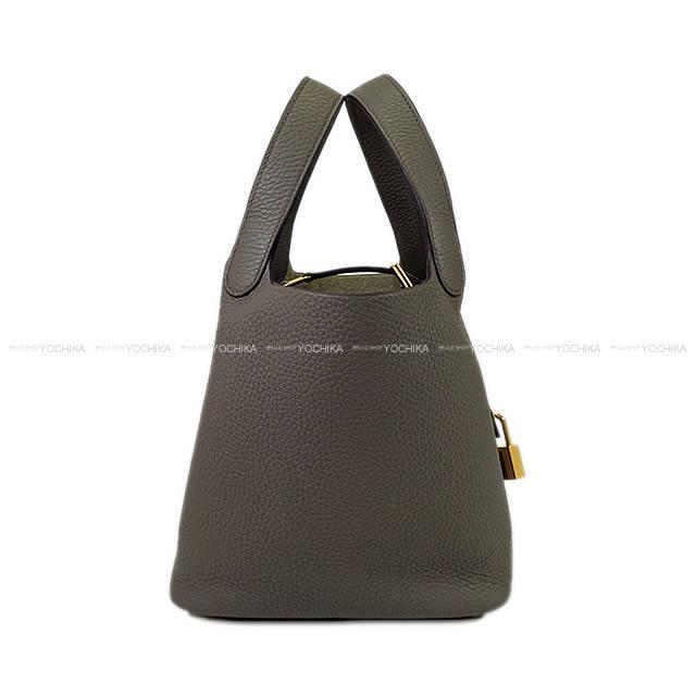 【ご褒美に★】HERMES エルメス ハンドバッグ ピコタンロック 18 PM エタン トリヨン ゴールド金具 新品 (Hermes handbag Picotin Lock 18 PM Etain Taurillon Clemence GHW[Brand new][Authentic])【あす楽対応】#yochika