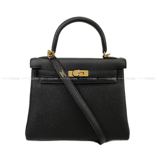 【ご褒美に★】HERMES エルメス ハンドバッグ ケリー25 内縫い 黒(ブラック) トゴ ゴールド金具 新品 (HERMES handbags Kelly 25 Retourne Noir(Black) Togo GHW[Brand New][Authentic])【あす楽対応】#よちか