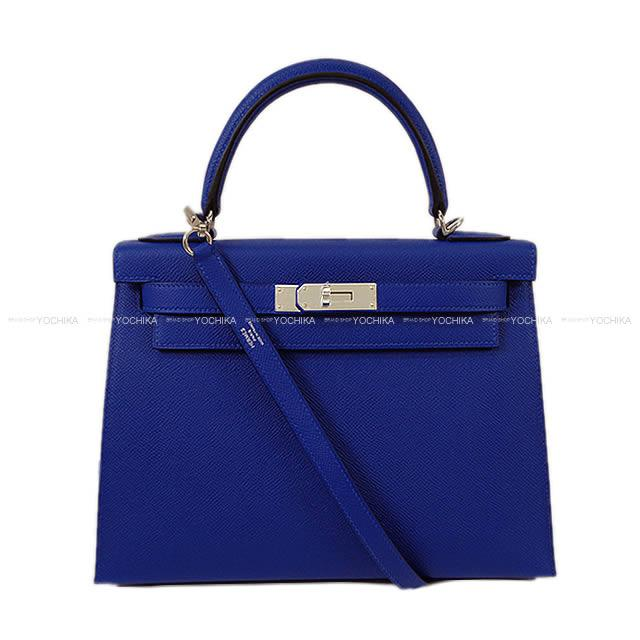【自分へのご褒美★】【値下げ!】HERMES エルメス ハンドバッグ ケリー28 外縫い ブルーエレクトリック エプソン シルバー金具 新品 (HERMES Handbag Kelly 28 Sellier Blue Electric Epsom SHW [Brand New][Authentic])【あす楽対応】#yochika