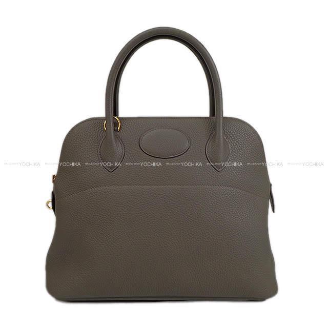 【自分へのご褒美★】HERMES エルメス ハンドバッグ ボリード31 エタン トリヨン ゴールド金具 新品 (HERMES Handbag Bolide 31 Etain Taurillon Clemence GHW[Brand New][Authentic])【あす楽対応】#yochika