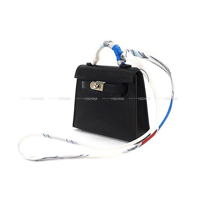 【高知インター店】 【ご褒美に★】HERMES エルメス ミニミニ バッグチャーム ケリートゥイリー(ツイリー) 黒(ブラック) タデラクト シルバー金具 新品 (HERMES MiniMini bag charm Kelly Twilly Noir(Black) Veau Tadelakt SHW[Brand new][Authentic])【】#yochika, スポーツオーソリティ バリュー c563dde9