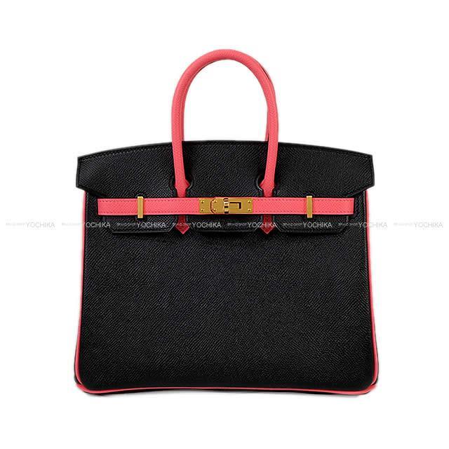 【冬のボーナスで!】HERMES エルメス バーキン25 スペシャルオーダー 黒(ブラック)Xローズアザレ エプソン ゴールド金具 新品 (HERMES handbag Birkin25 Personal Order Noir(Black)/Rose Azalee Epsom GHW[Brand New][Authentic])【あす楽対応】#よちか