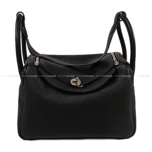 5186d4e2fc HERMES Hermes shoulder bag Lindy 30 black (black) avian Yong silver metal  fittings display is new