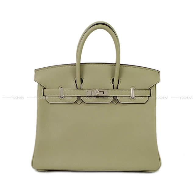 3f92f9d78a HERMES Hermes handbag Birkin 25 sage (ソーゼ) swift silver metal fittings new  article mint condition