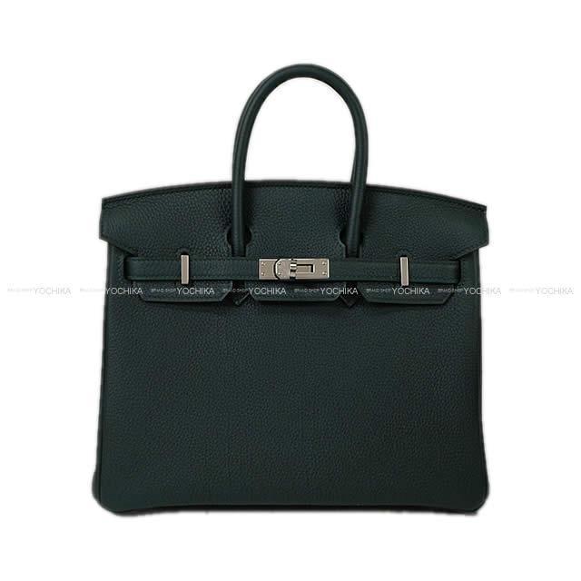 【冬のボーナスで!】HERMES エルメス ハンドバッグ バーキン25 ヴェールシプレ(サイプレス) トゴ シルバー金具 新品未使用 (HERMES handbag Birkin25 Vert cypres Togo SHW[Never used][Authentic])【あす楽対応】#よちか