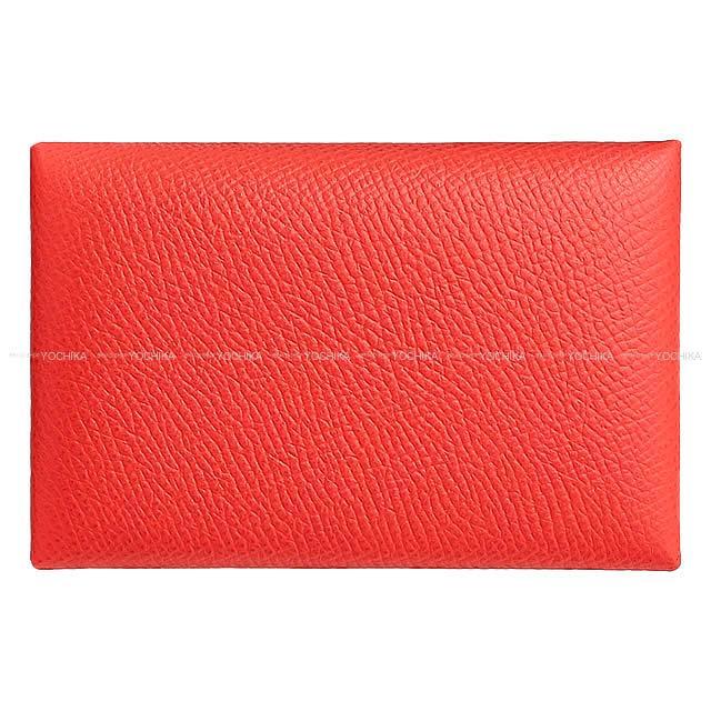 HERMES エルメス カードケース Calvi(カルヴィ) ヴェルソ ローズジャイプールXローズエグランタイン エプソン シルバー金具 新品 (HERMES Card case Calvi Verso Rose jaipur/Rose eglantine Epsom SHW[Brand new][Authentic])