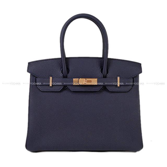 【夏のボーナスで☆】HERMES エルメス バーキン30 ブルーニュイ トゴ ローズゴールド金具 新品 (HERMES Birkin Bag 30 Bleu Nuit Togo RGHW[Never used][Authentic])【あす楽対応】#よちか