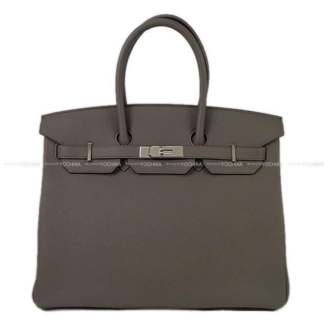 【キャッシュレスポイント還元★】HERMES エルメス ハンドバッグ バーキン35 エタン トゴ シルバー金具 新品(HERMES Handbag Birkin35 Etain Togo SHW[Brand new][Authentic])
