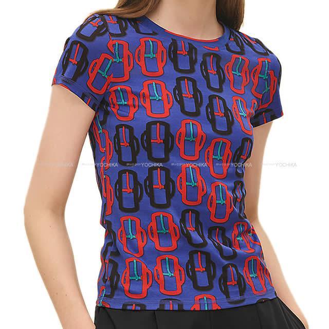 best website 75808 aaa8f HERMES Hermes T-shirt cut-and-sew