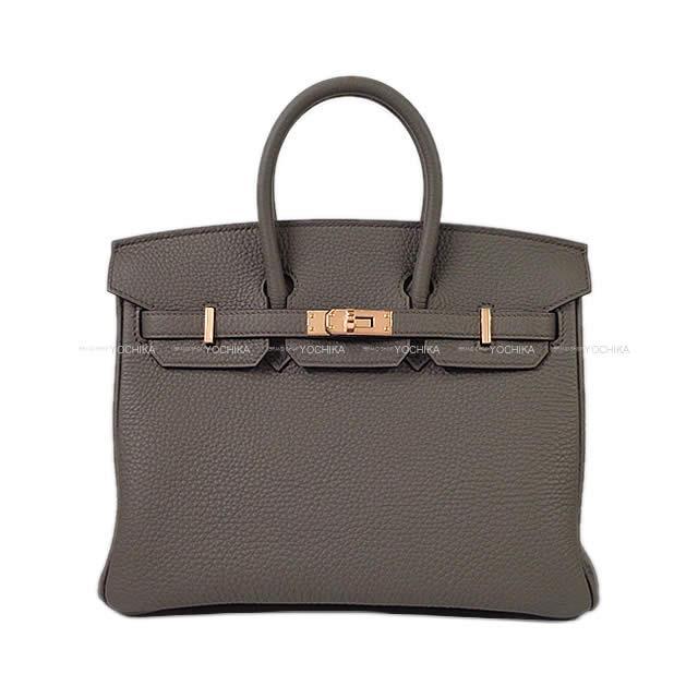【夏のボーナスで☆】HERMES エルメス ハンドバッグ バーキン25 エタン トゴ ローズゴールド金具 新品 (HERMES Handbag Birkin25 Bag Etoupe Etain RGHW[Brand new][Authentic])【あす楽対応】#よちか