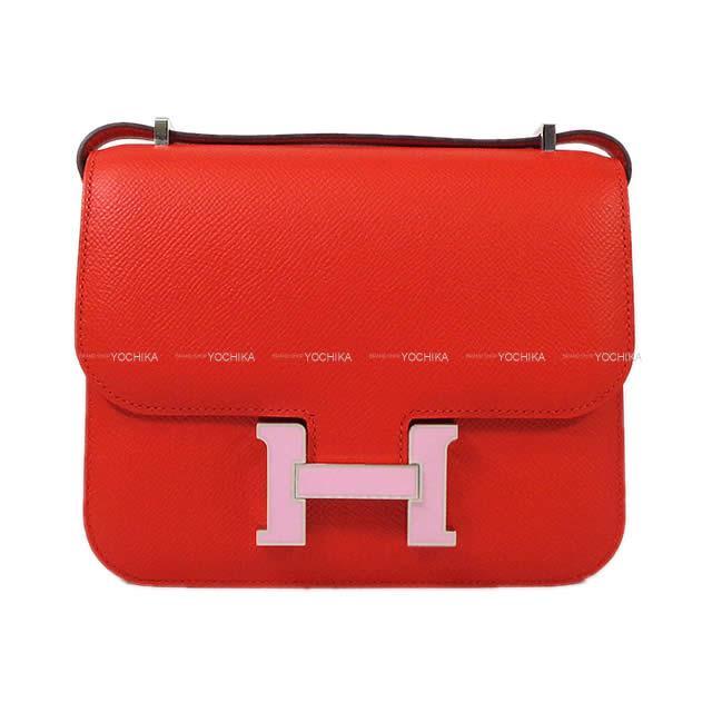 【キャッシュレスポイント還元★】HERMES エルメス ショルダーバッグ コンスタンス3 ミニ 18 ルージュドゥクール シルバー金具 新品 (HERMES Shoulder bag Constance3 mini 18 Rouge de coeur SHW[Brand New][Authentic])【あす楽対応】#よちか