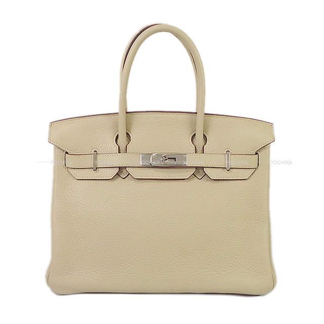 【キャッシュレスポイント還元★】HERMES エルメス ハンドバッグ バーキン30 パシュマン トリヨン シルバー金具 新品同様【中古】 ([Pre-loved]HERMES Handbag Birkin 30 Parchemin Taurillon Clemence SHW[Near mint][Authentic])【あす楽対応】#よちか