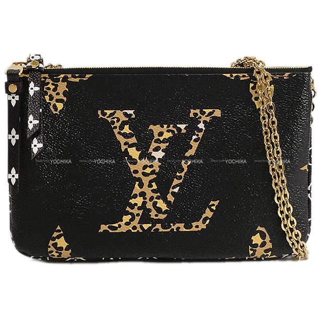【 キャッシュレスポイント還元★】LOUIS VUITTON ルイ・ヴィトン チェーンショルダー ''ポシェット ドゥ―ブルジップ'' 黒 M67874 新品 (LOUIS VUITTON Shoulder Bag ''Pochette Double Zip''[Brand new][Authentic])【あす楽対応】#よちか