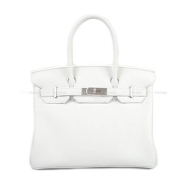 HERMES エルメス ハンドバッグ バーキン30 スペシャルオーダー 白(ホワイト/ブラン) トリヨン シルバー金具 新品 (HERMES handbags Birkin 30 White(Blanc) Taurillon Clemence Silver HardWare[Brand New][Authentic][HORSESHOE])【あす楽対応】#よちか