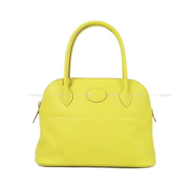 【値下げ!】HERMES エルメス ショルダーバッグ ボリード27 ライム スイフト ゴールド金具 新品 (HERMES Shoulder bag Bolide27 Lime Swift GHW[Brand new][Authentic])【あす楽対応】#よちか