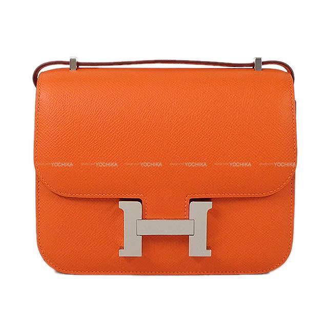 本物の 【ご褒美に☆】HERMES エルメス ショルダーバッグ コンスタンス 3 ミニ 18 フーオレンジ エプソン シルバー金具 新品 (HERMES Shoulder Bag Constance 3 Mini 18 Feu Orange Epsom SHW[Brand new][Authentic])【】#よちか, Memoria fac521e4