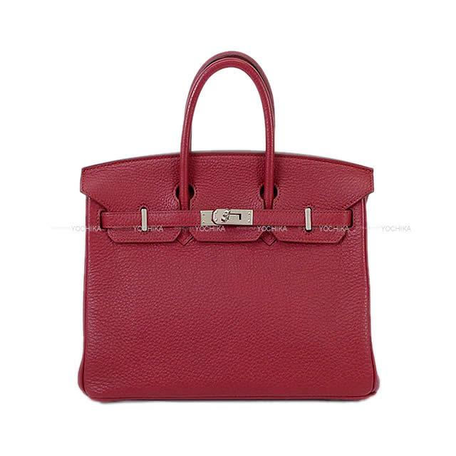 【 キャッシュレスポイント還元★】HERMES エルメス ハンドバッグ バーキン25 ルビー トゴ シルバー金具 SAランク【中古】 ([Pre-loved]HERMES Handbag Birkin 25 Ruby Togo SHW[USED SA][Authentic])【あす楽対応】#よちか
