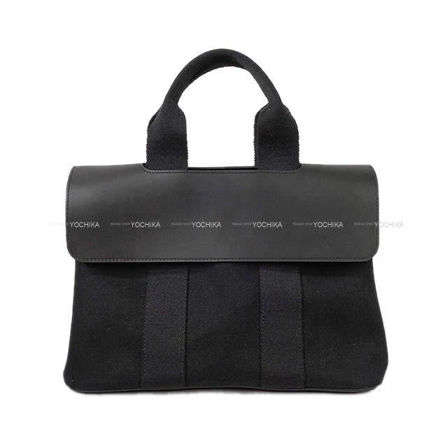 【 キャッシュレスポイント還元★】HERMES エルメス ハンドバッグ ヴァルパライソ (バルパライソ) PM 黒 カーフXトワルシェブロン 新品同様【中古】 ([Pre-loved]HERMES Handbag Valparaiso PM Black Carf/Toile Chevrons [Near Mint][Authentic])【あす楽対応】#よちか