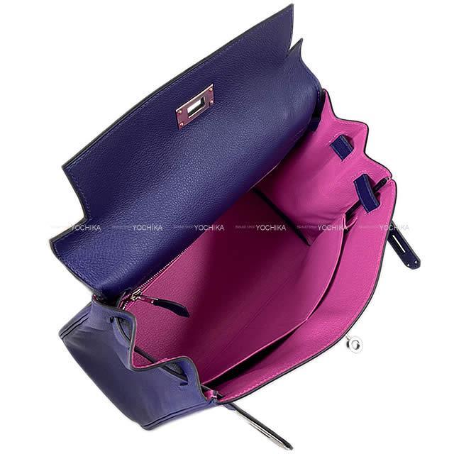 【在庫有】 【ご褒美に☆】HERMES エルメス ハンドバッグ ケリー28 内縫い ヴェルソ ブルーインク(ブルーアンクル)/マグノリア 新品 (HERMES handbag Kelly 28 Retourne Verso Bleu encre/Magnolia [Brand new][Authentic])【】#よちか, スワグン f7b50da4