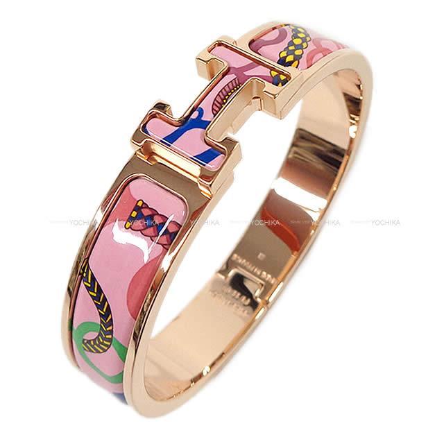 【キャッシュレスポイント還元★】HERMES エルメス ブレスレット バングル クリック アッシュ PM 乗馬の装身具一式 ピンクデリリウム エナメルファンXローズゴールドプレーテッド 新品 (Bracelet Bangle Clic H PM Panoplie Equestre Pink DELIRIUM )#よちか