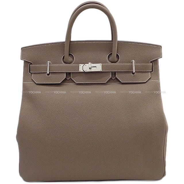 【夏のボーナスで☆】HERMES エルメス ハンドバッグ スペシャルオーダー オータクロア 40 エトープ(エトゥープ) トゴ シルバー金具 新品 (HERMES HAUT A CORROIRE 40 Bag Personal Order Etoupe Togo SHW[Brand new][Authentic])#よちか