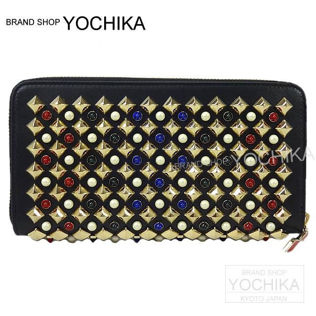fc674bc8d78 Christian Louboutin Christian Louboutin studded with Pearl zip long wallet  Gloves black X multi-color 3165136 brand new (2016 AW NEW Christian ...