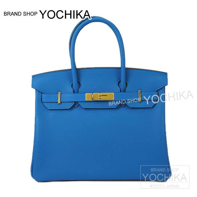 2017 new color HERMES Hermes handbag Birkin 30 blue Zanzibar avian Yong  gold metal fittings new article 80233ffe23da2