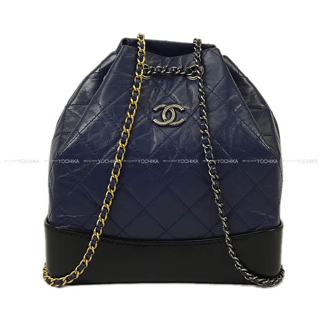 ca39182e74ba CHANEL Chanel Gabriel do matelasse backpack navy X black X レッドエイジドカーフスキン A94485  new ...