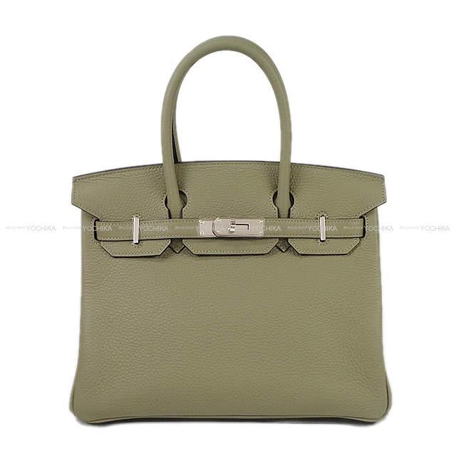【冬のボーナスで!】HERMES エルメス ハンドバッグ バーキン30 セージ(ソーゼ) トリヨン シルバー金具 新品 (HERMES handbags Birkin 30 Sauge Taurillon Clemence SHW[Brand new][Authentic])【あす楽対応】#よちか