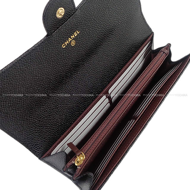 490393625f16e6 CHANEL Chanel matelasse flap long wallet black X Bordeaux caviar skin (Gres  India calf) gold metal fittings A80758 new article (NEW CHANEL Matelasse  Stitch ...