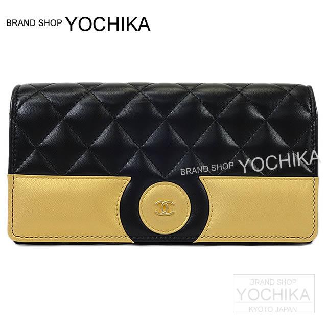 99780ed2750d53 CHANEL Chanel circle here mark matelasse flap length wallet gold X black  lambskin gold metal fittings A82692 new article in winter latest the autumn  of 2017