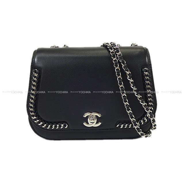 a534b73daf71 As well as spring of 2017 summer CHANEL Chanel flap chain around shoulder bag  black (black) calfskin A98774 silver metal fittings new article [used]