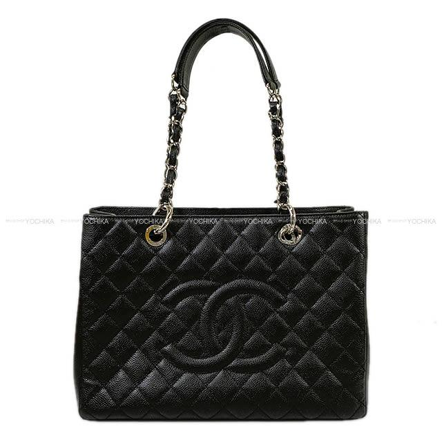 c8558000c082 CHANEL Chanel matelasse ground shopping chain tote bag black (black) caviar  skin silver metal fittings A50995 new mint condition