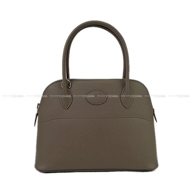 【夏のボーナスで☆】HERMES エルメス ハンドバッグ ボリード27 エタン エプソン シルバー金具 新品 (HERMES Handbag Bolide27 Etain Epsom SHW[Brand New][Authentic])【あす楽対応】#よちか